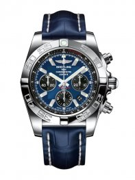 Breitling Chronomat 44 Acero inoxidable/Blackeye Blue/Croco/Pin AB011012/C789/731P/A20BA.1