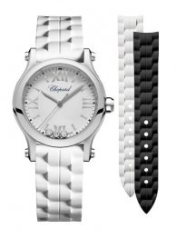 Chopard Happy Sport 30 MM Quartz Acero inoxidable And Diamantes Reloj 278590-3001