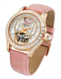 Chopard damas Diamante Tourbillon Limited Edicion Reloj 171914-5001