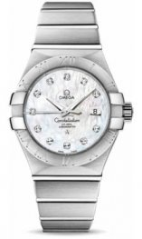 12310312055.001 Omega Constellation Co-Axial 31 mm acero inoxidable cepillado