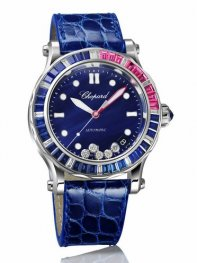 Chopard Happy Ocean Red Rosa Calendar Reloj de senoras 274945-1002