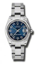 178240 blcao Rolex Datejust 31mm Acero Cupulas Bisel Oyster pulsera