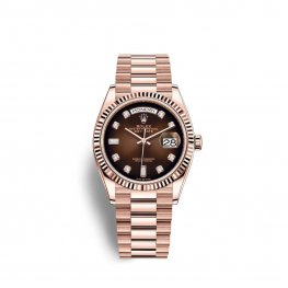 Rolex Day-Date 36 Everose gold M128235-0037