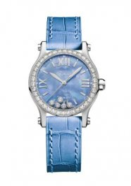 Chopard Happy Spot Acero inoxidable Madre perla&Diamantes Reloj 278573-3010