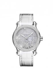 Chopard Happy Snowflakes 18K Oro blanco And Diamantes Limited Edicion Reloj 274891-1014