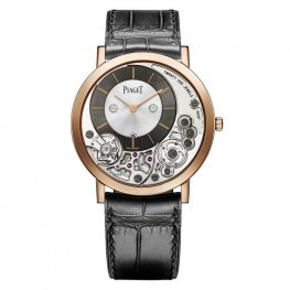 Piaget Altiplano Silver and Black Skeleton Dial para hombre GOA39110