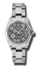 178240 OMR Rolex Datejust 31mm Acero Cupulas Bisel Oyster pulsera