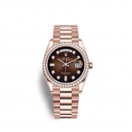 Rolex Day-Date 36 Everose gold M128345RBR-0040