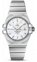 12310312005.001 Omega Constellation Co-Axial 31 mm acero inoxidable cepillado