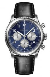 Breitling Navitimer 8 B01 Azul Dial and Leather Strap Reloj AB0117131C1P1