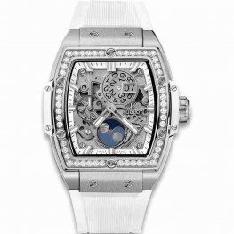 Hublot Spirit Of Big Bang Moonphase Titanium Blanco Diamantes 42mm 647.NE.2070.RW.1204