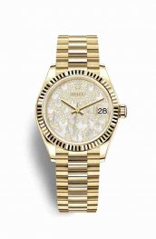 Rolex Datejust 31 18 ct oro amarillo 278278 Paved mother-of-pearl butterfly Dial Reloj