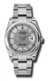116200 stsiso Rolex Datejust 36mm Acero Cupulas Bisel Oyster pulsera