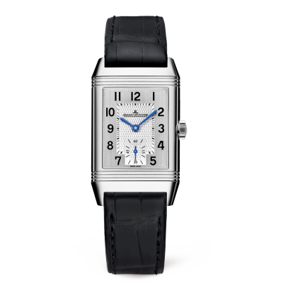 Jaeger LeCoultre Reverso Classic plata Dial Hombres Hand Wound Reloj 2438520
